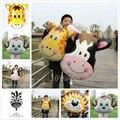 Balões folha Animal da selva Tiger & Lion & monkey & zebra & cervos & vaca Hélio Balões festa de aniversário decoração Safari zoo balões