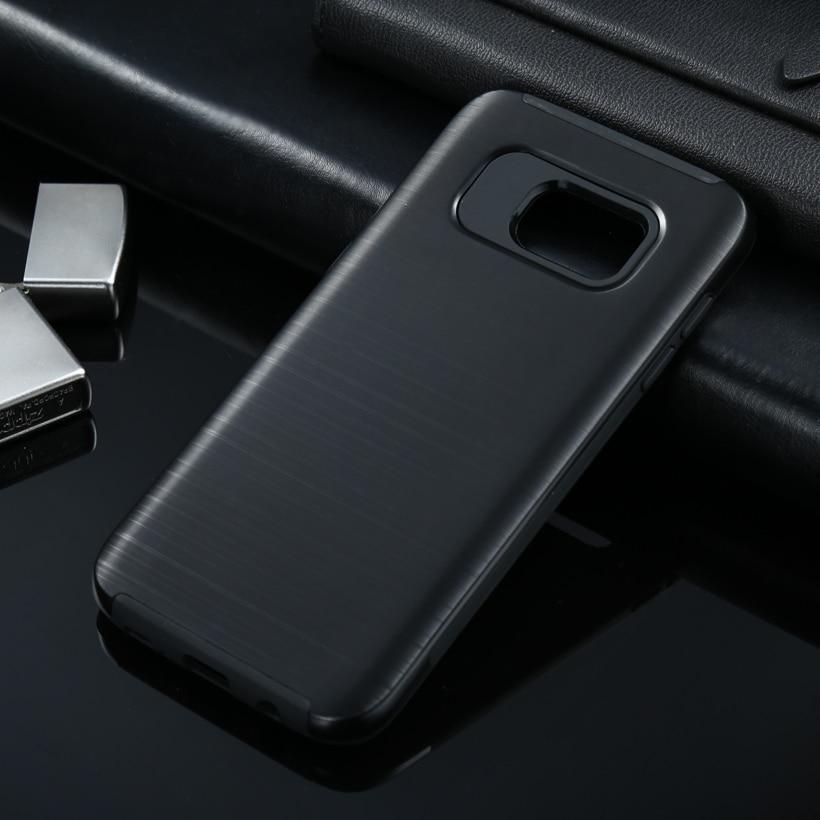 Cepillo pc cepillado duro cajas del teléfono para samsung galaxy s7 borde G935A