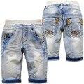 5973 детские шорты брюки мягкие джинсовые светло-голубой очень классные джинсы брюки шорты лето теленок-длина 70% длина