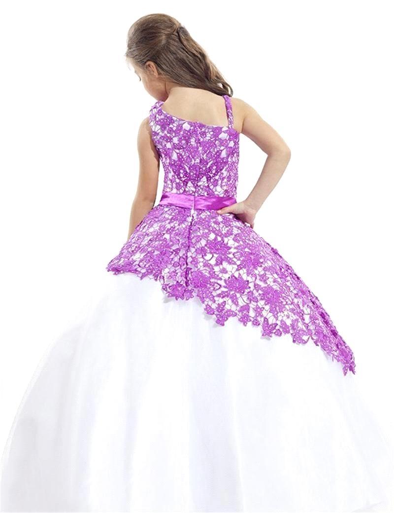 10476add6 Bastante Adorable 2017 Vestidos de Primera Comunión Para Niñas Cucharada  Niñas Prom Vestidos Del Desfile Vestido Niña de las Flores en de en  AliExpress.com ...