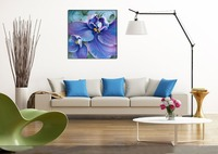 Canvas Painting Decorative Beautiful Flower Series Violet Oil Painting On Canvas By Hand Painted DIY Digital