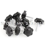 32mm Star Head Dia Replacement 6mm X 25mm Clamping Screw Knob Grip 10 Pcs