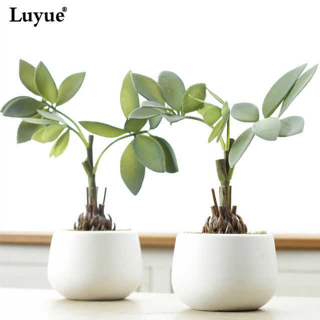 luyue artificial flower plant bonsai money tree home decoration