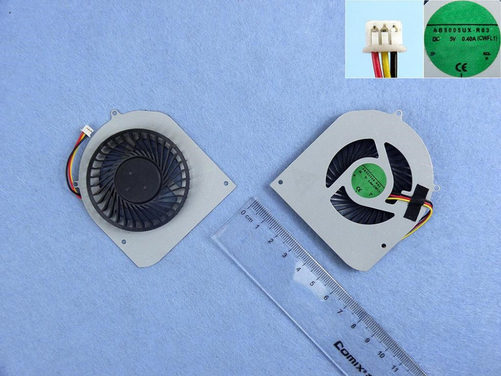 New Laptop Cooling Fan for Dell XPS 14Z P/N AB5005UX-R03 AD07005HX10L300 CPU Replacement Cooler Radiator original new laptop cpu heatsink with cooler fan for dell alienware m15x avc bnta0815r5h dc 5v 0 5a 5 5cfm dp n pr2h1 0pr2h1