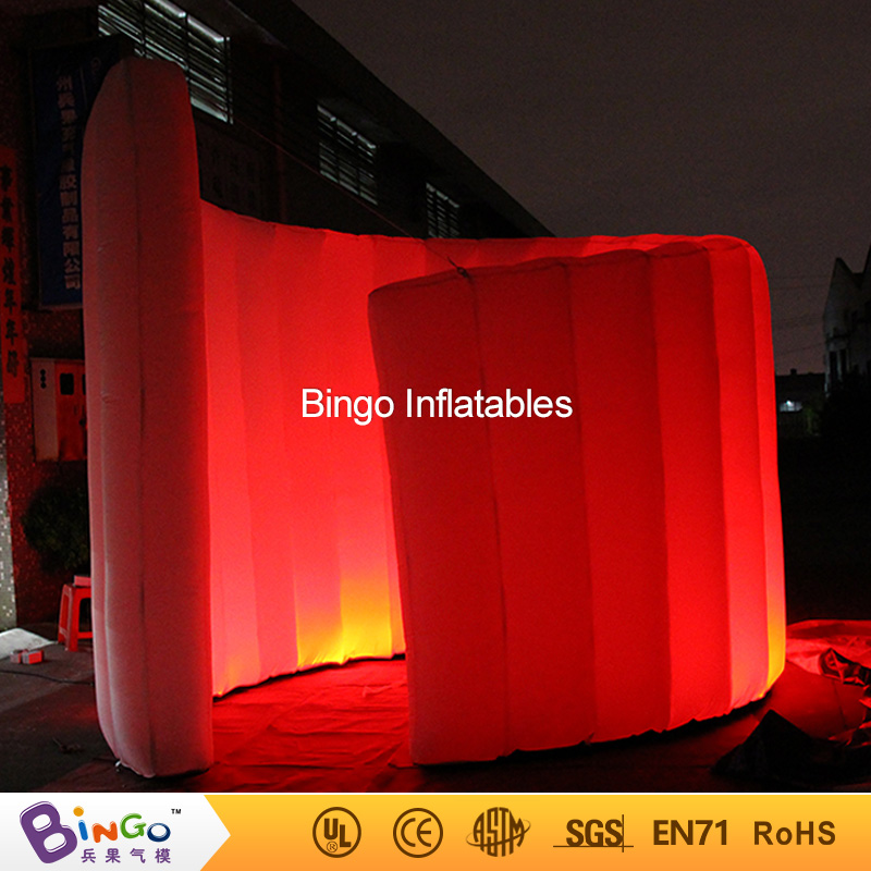 Factory price 3X3 m LED lighting inflatable photo booth wall for wedding party high quality spiral wall for stage props toy tent free shipping 2 5m led lighting inflatable photo booth with window led inflatable photo enclosure tent inflatable cube tent