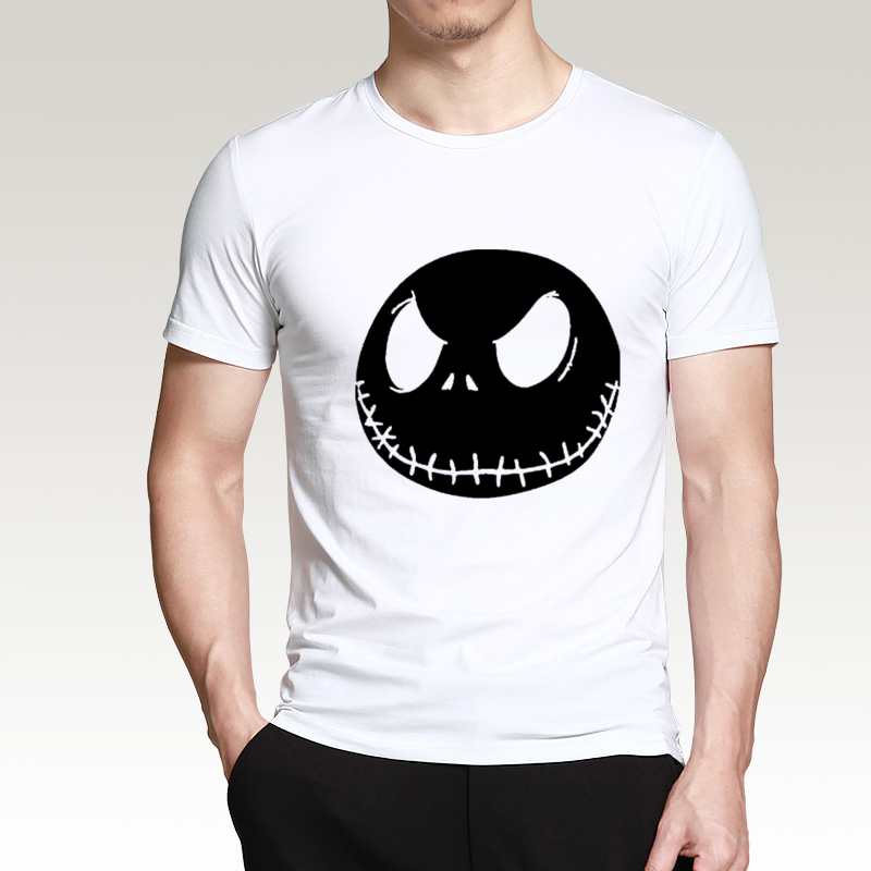 ALI shop ...  ... 32791189173 ... 5 ... nightmare before christmas cartoon Jack Skellington Men T Shirt Grimace 2019 Summer New 100% Cotton Hip Hop Streetwear T-Shirt ...