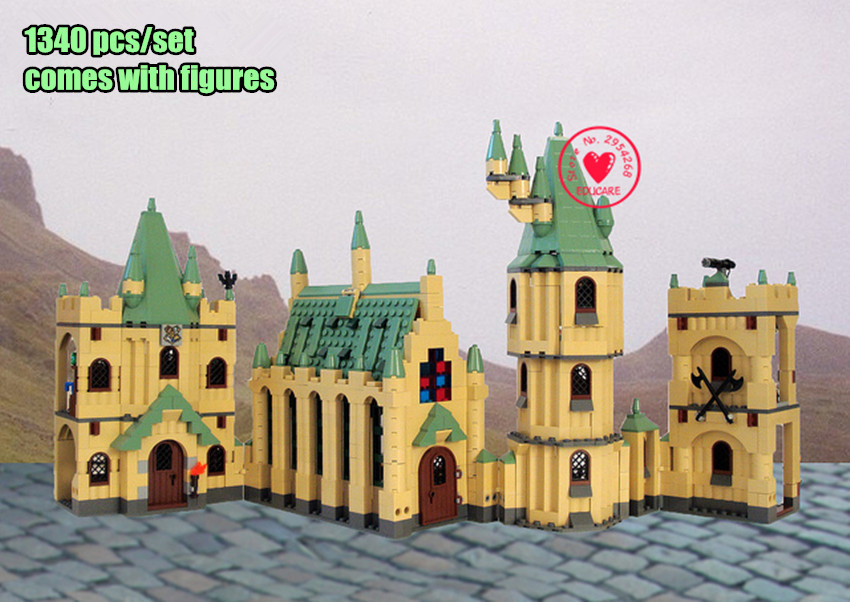 New 1340pcs Hogwarts Castle Movies fit legoings harry potter figures city Castle model Building Block Bricks 4842 Toy kid gift