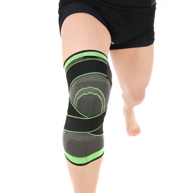 3D Pressurized Fitness Running Cycling Knee Support Braces Elastic Nylon Sport Compression Pads Sleeve for Basketball
