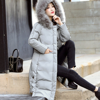 Plus Size 5XL 2018 Long Autumn Winter Black Grey Women High Quality Cotton Coat Warm Jackets Puffer Parkas Mujer Invierno