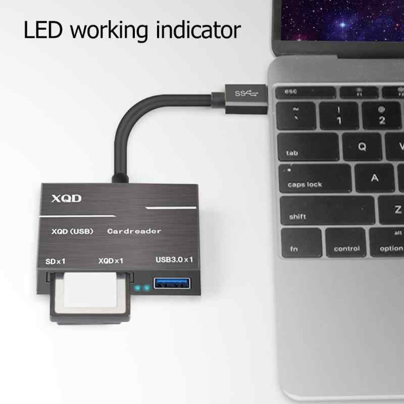 نوع C إلى XQD بطاقة SD محوّل قارئ البطاقات عالية السرعة 500 برميل/الثانية USB3.0 محور الذاكرة قارئ بطاقات Coverter للنوافذ الكمبيوتر تحويل