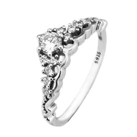 Rings Compatible with Europe Jewelry Silver Rings 925 Sterling Silver 2017 New Fairytale Tiara Ring DIY Free Shipping