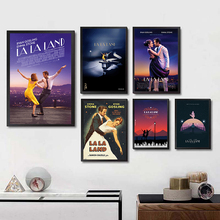 LA LAND Movie Posters White Coated Paper Prints Wall Stickers Home Decoration Art Brand