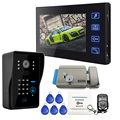 """ENVÍO GRATIS Home Wired 7 """"Sistema de Videoportero De Intercomunicación 1 Monitor Record 1 Código Teclado Cámara RFID Cerradura Eléctrica Toda la venta"""