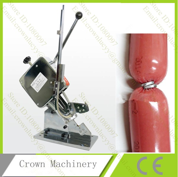 U Shape manual Single sausage clipping machine Plastic bag clipper