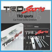 3D Red Trd Sport TRD Sport Metal Front Grille Grill Emblem Car Turning Racing Race Running