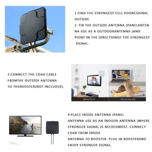 Image 5 - 2 * 22dBi outdoor 4G LTE MIMO antenne, LTE dual polarisatie panel antenne SMA MALE connector 30cM kabel