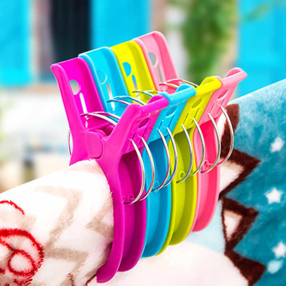 2 Pcs Große Helle Farbe Kunststoff Strand Handtuch Pegs Clips Zu Sonnenbank Quilt Clips Stricken Strumpf Clip Große Helle Farbe