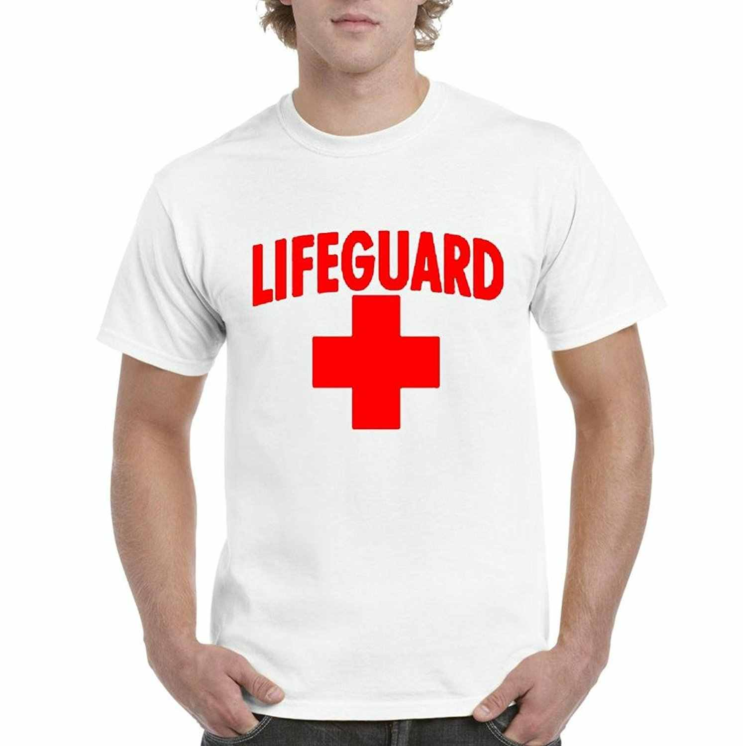 18d9a2d739d Detail Feedback Questions about Graphic Music Tees Lifeguard Red Cross Life  Guard In Red Mens T shirt TeeStretch Custom T Shirts No Minimum on ...
