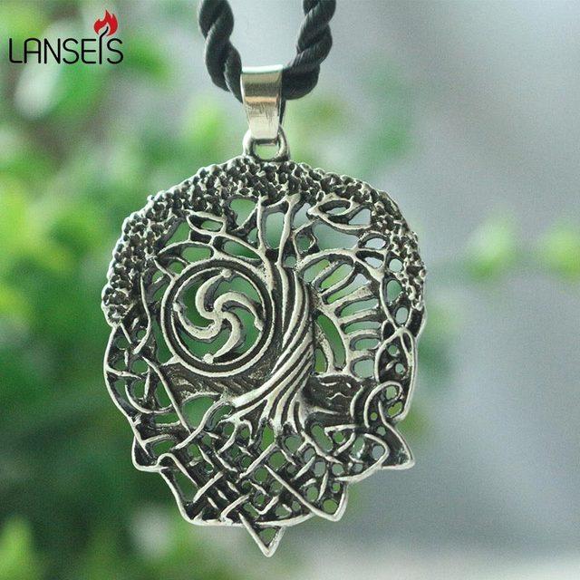 1pcs Tree Of Life Necklace Family Tree Slavic Rod Symbol Pendant