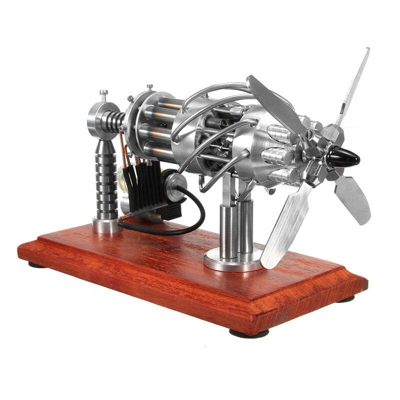 16 cilindro Ad Aria Calda Stirling Motore Modello di Motore Creazione Giocattolo Motore a Combustione Esterna Ad Alta Efficienza Per Bambini Educativi