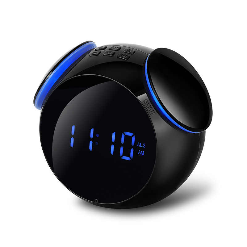 57511e4b797 ... Inalámbrica Bluetooth reloj de alarma de los niños de dibujos animados  reloj Despertador Digital luz de