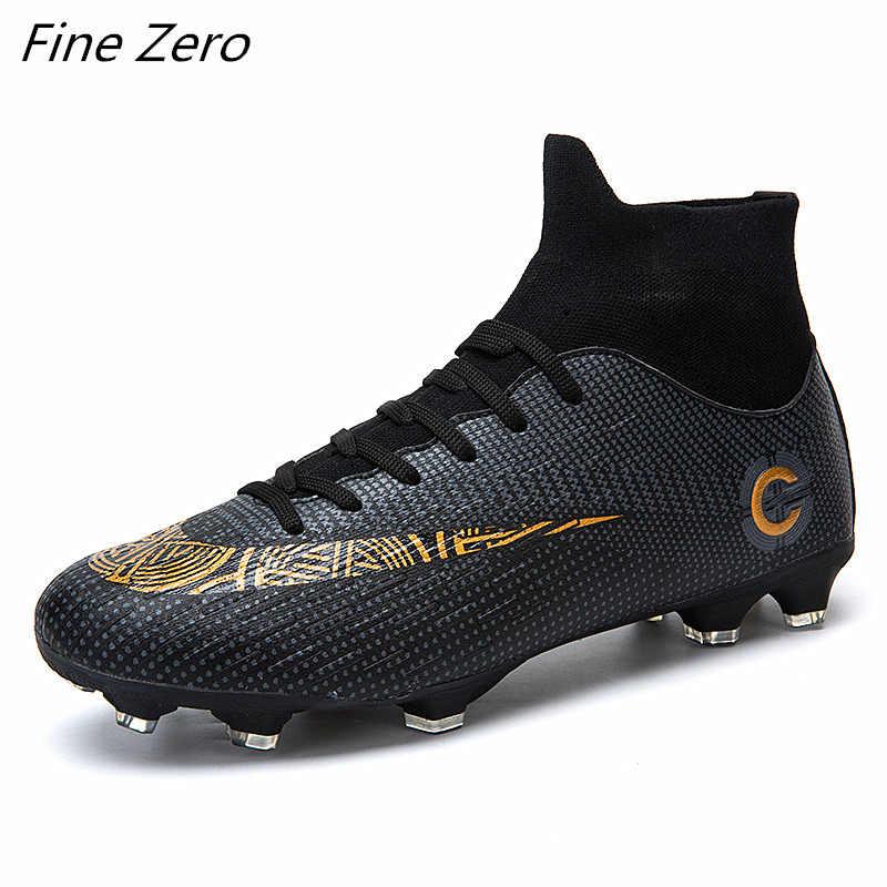 Yeni Trend Yetişkin erkek Açık Futbol Cleats Ayakkabı Yüksek Top TF/FG futbol kramponları Eğitim Spor Ayakkabı Unisex Futbol ayakkabı
