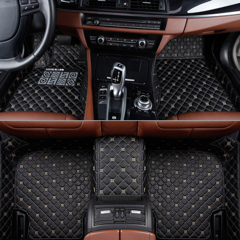 Flash mat leather car floor mats for <font><b>Toyota</b></font> Corolla Camry Rav4 Auris Prius Yalis Avensis Alphard 4Runner Hilux highlander foot image