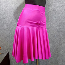 Новинка, ярко-розовая юбка для латинских танцев для женщин, черная юбка для танцев, Vestido De Flecos, Фламенго, Румба/Самба/ковбой, красная юбка для танцев, VDB501