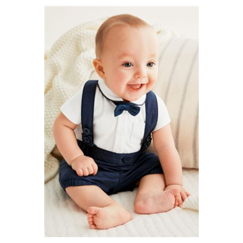 2pcs Baby Boy Overalls Set