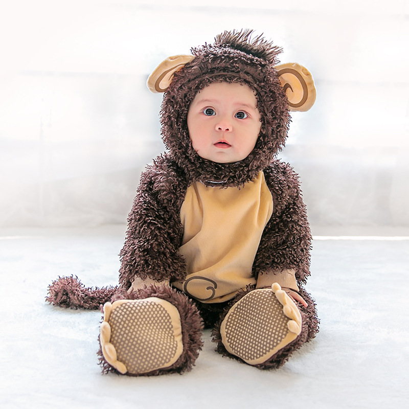 Monkey Kids Cosplay Costumes Halloween Animal Monkey Jumpsuit for Kids Child Fancy Dress Baby  Clothes Kid Christmas Gifts