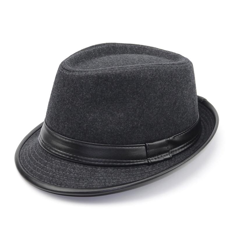 [AETRENDS] 2017 İngiltere Stil Fedora Caz Şapka Erkekler Vintage - Elbise aksesuarları - Fotoğraf 2