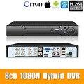5в1 8ch * 1080N AHD DVR видеонаблюдения безопасности CCTV видео рекордер DVR Гибридный DVR для 720 P/960 H аналоговый AHD CVI TVI IP камера XMEYE