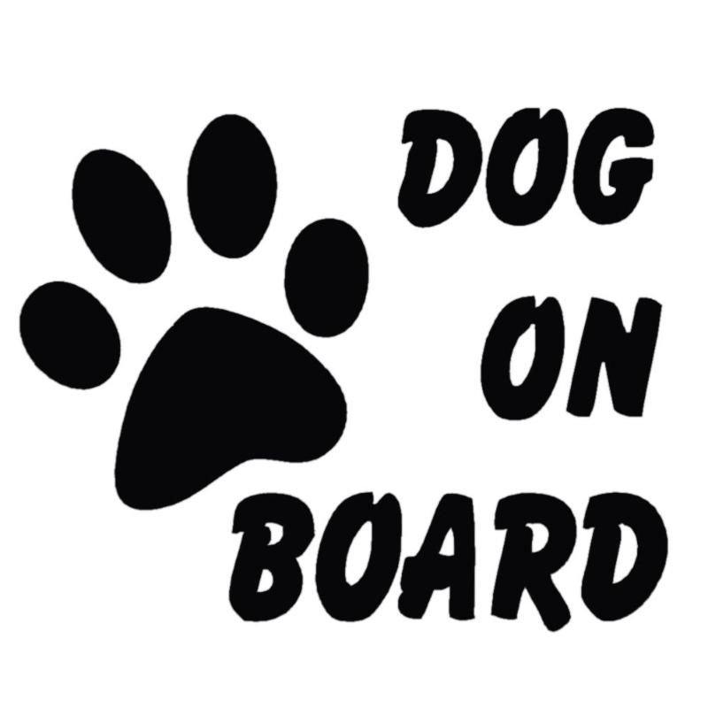 Baby Pet Dog On Board Car Ctyling Stylish Car Stickers Reflective Sticker