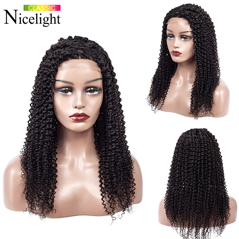 Deep Curly Wig Indian Hair Wig Nicelight 4X4 Lace Closure Wig Kinky Curly Bob Wig Closure Wig Long Human Hair Wig Long Curly Wig