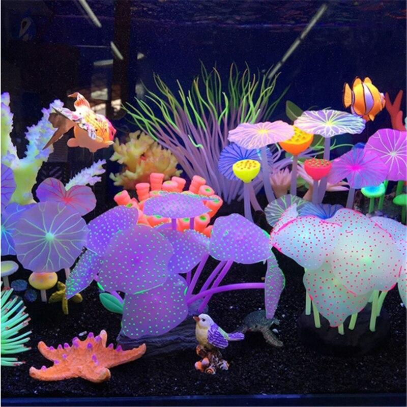Tank Ornament Glowing Effect Lotus Leaf Simulation