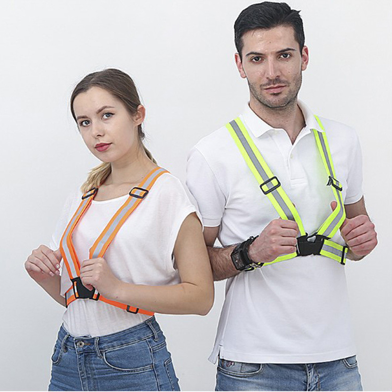 все цены на 8 Colors High Visibility Reflective Vest Outdoor Safety Vest Cycling Night Running Sports Workwear Unisex Flexible Safety Cloth онлайн