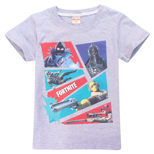 Fortnight Game T Shirt For Boy Girl T-shirts Teenage Kid Cotton Boutique Youth Tee Battle Royale Child Top Cloth Teen Big 8 12Y 5