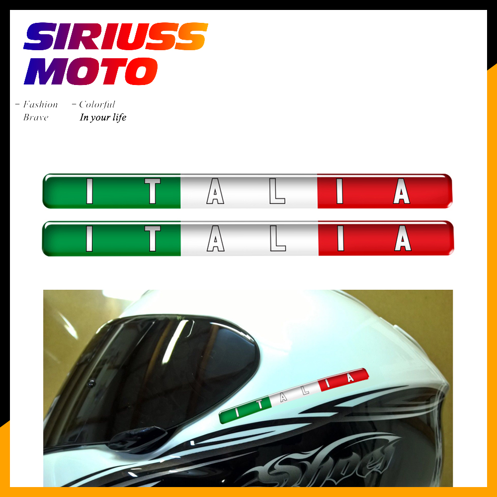 Motorcycle Tank Decals Italy Flag Italia Stickers Case For Aprilia Ducati Vespa For AGV K1 K3 K4 K5 RR4 RR7 Shark Helmet Decals