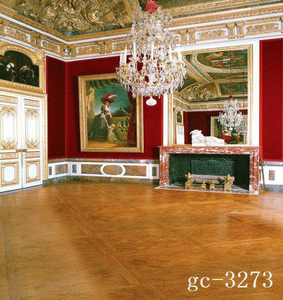 Vintage Room Vinyl Photography Background Backdrop Studio: 10x10FT Vintage Louvre Museum Paintings Frame Red Wall Court Chandelier Custom Photo Studio