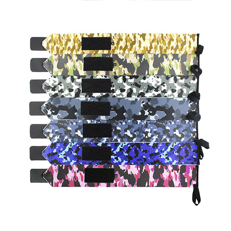Camouflage En Nylon Élastique Réglable Enroulement Protection Poignet Paire De Poids De Levage Soulagement De La Douleur Bandage