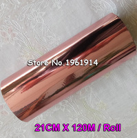 21cmx120M/Roll Rose Gold Hot Stamping Foil Paper Transfere Elegance Laser Craft Paper