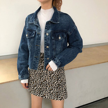 2019 Women Denim Jacket Loose Casual Outwear Spring and Autumn Fashion Boyfriend Short  Bomber