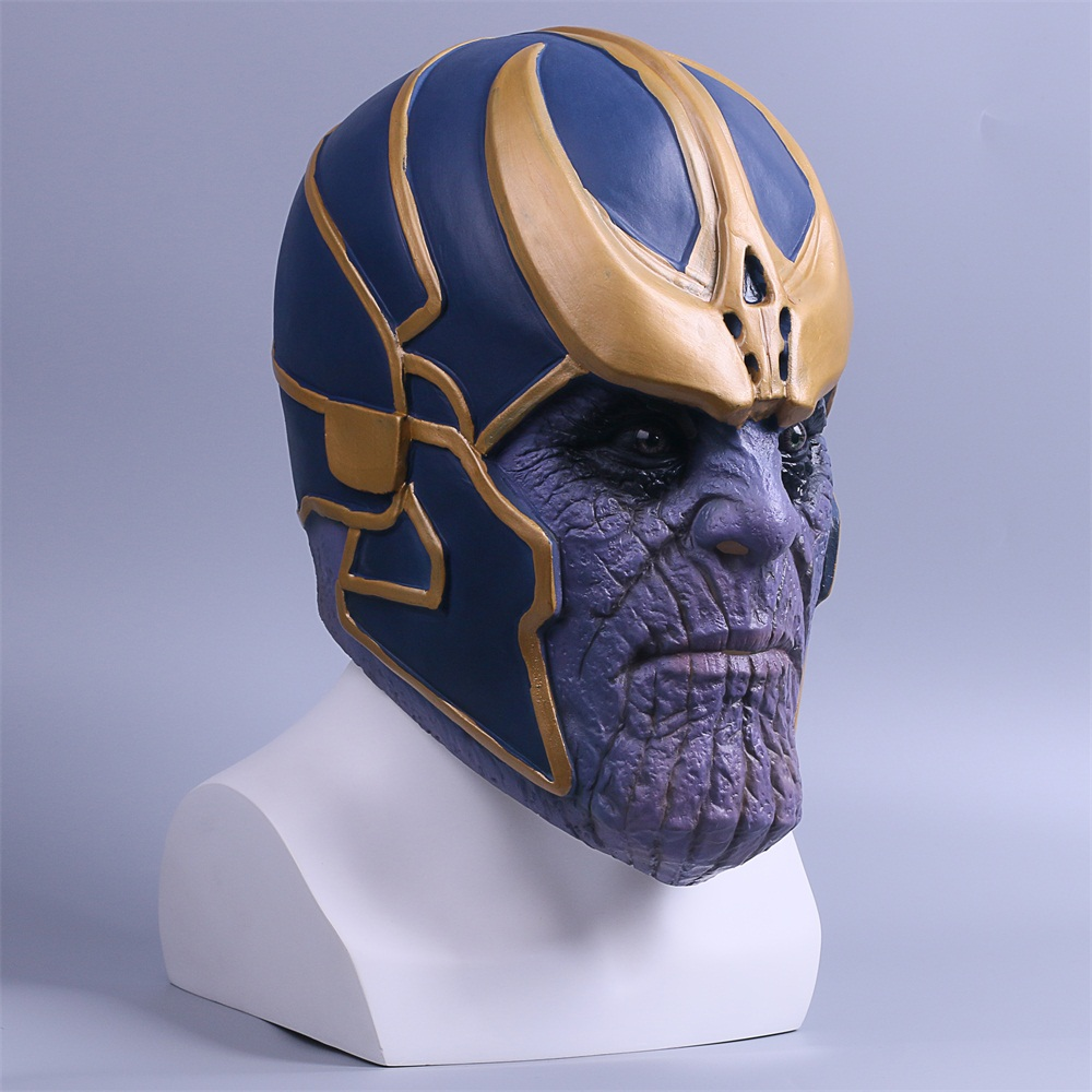 2018 Avengers Infinity War Mask Thanos Mask Cosplay Full Head Latex Super Hero Costume Halloween Party Prop (5)