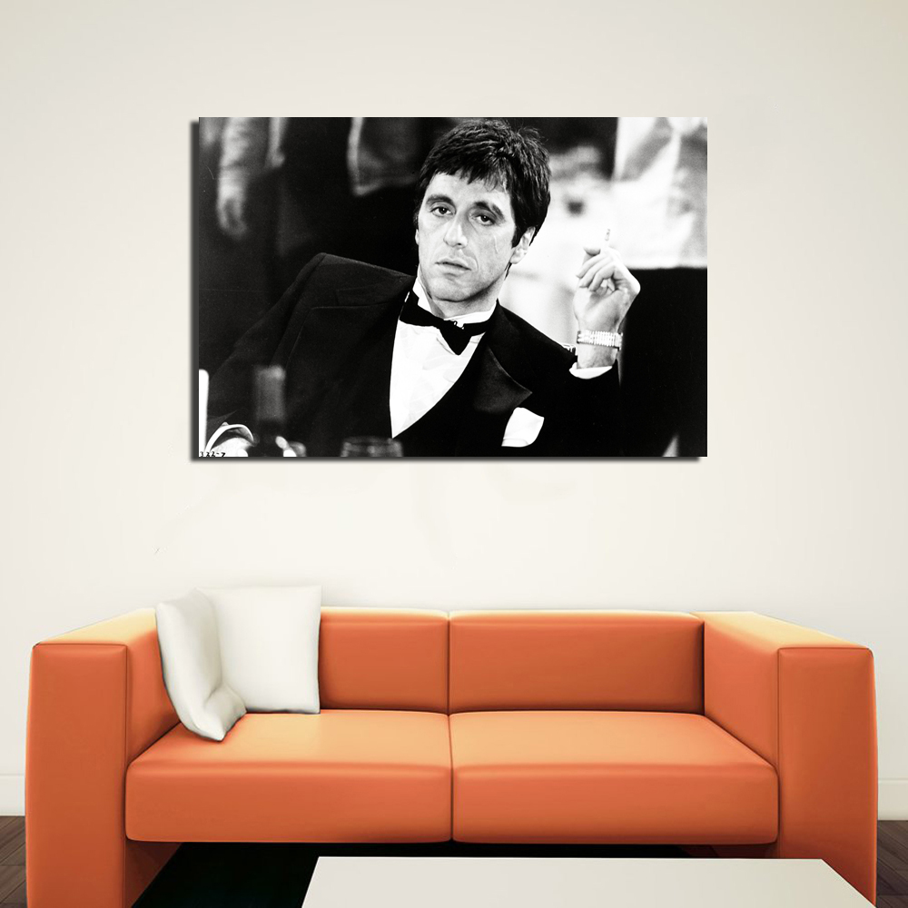 Scarface Al Pacino Wallpaper Poster Canvas Print Wall Art Picture ...