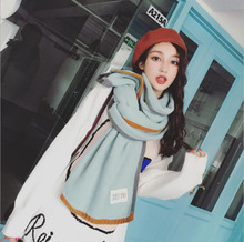 thickened wool collar scarf boy girl Winter Long woolen Scarf women Warm Soft Shawls Ladies Solid pure for laides