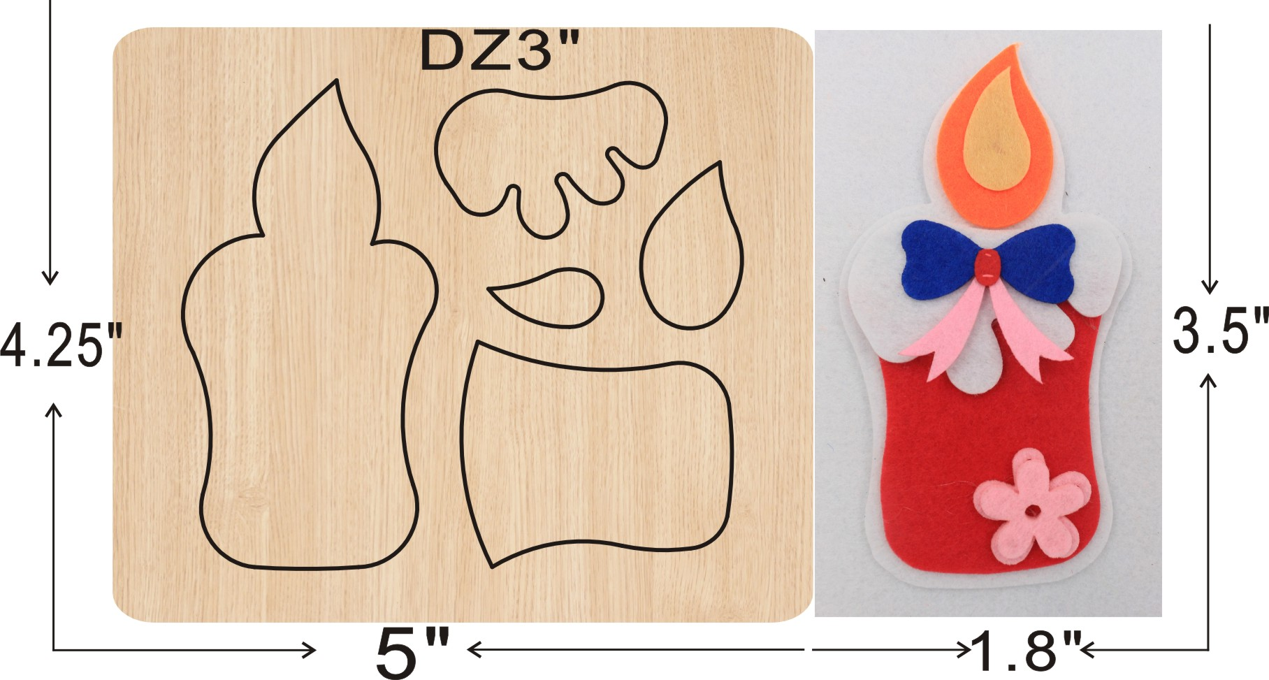 Candle Decoration  Cutting  Dies 2019 New Die Cut & Wooden Dies Suitable  For Common Die Cutting  Machines On The Market