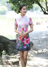 Shanghai Story Blend Cotton cheongsam dress Womens chinese traditional clothing qipao Oriental dress hot sale 6 style