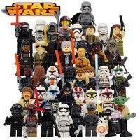 Star Wars Yoda Obi Wan Darth Vader Building Blocks Brick Compatible With Legoes Starwars 7 Kids