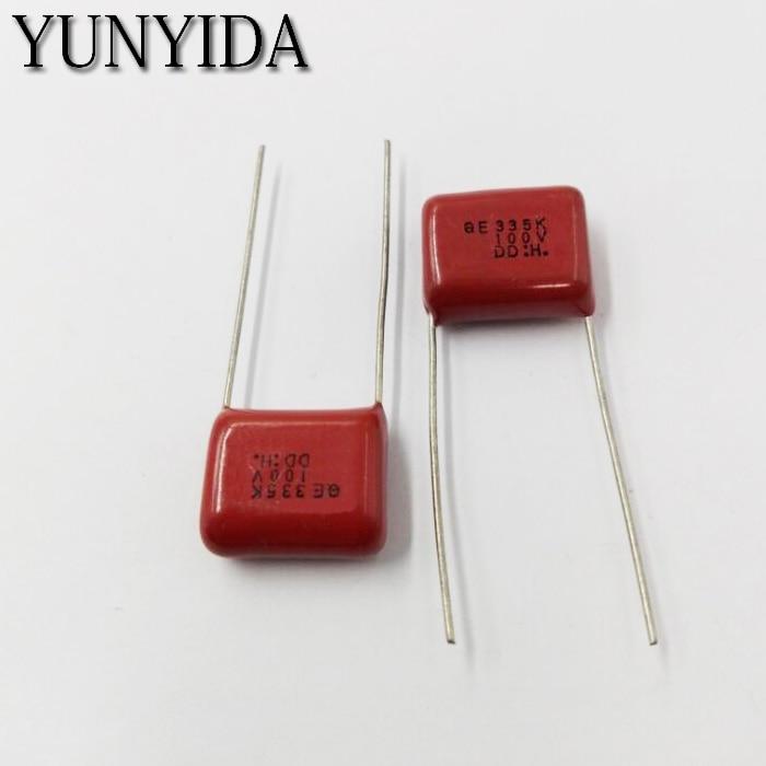 10pcs 684J 630V 0.68uF CBB Metallized Film Capacitor P=20MM