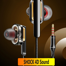 Dual Driver Earphone In-Ear Stereo Bass earphones Sport Running HIFI kulakl k Earbuds For iPhone For